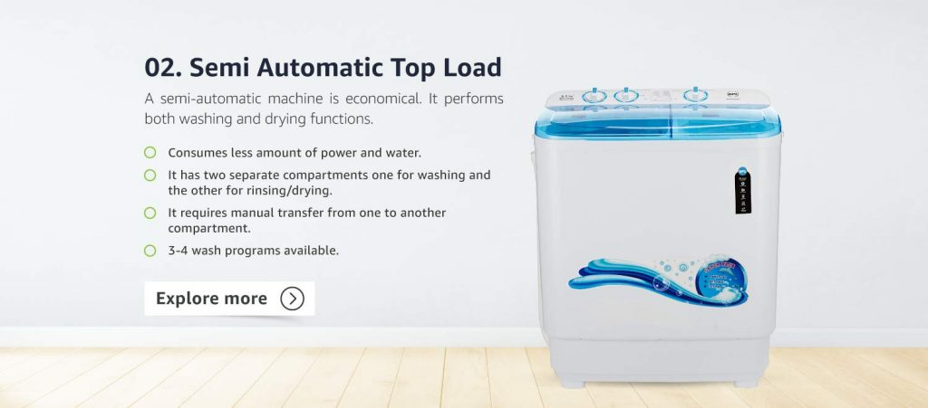 Semi Automatic Washing Machine